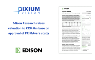 Edison Research raises valuation to €134.0m base on approval of PRIMAvera study